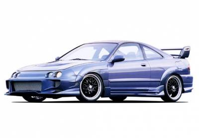 Integra 2Dr - Body Kits - Wings West - Acura Integra 2DR Wings West Aggressor Type II Body Kit Extreme Flares - 890742