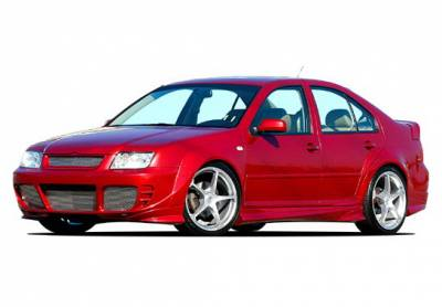 Jetta - Body Kits - Wings West - Volkswagen Jetta Wings West Extreme Flares Complete Body Kit - 9PC - 890793
