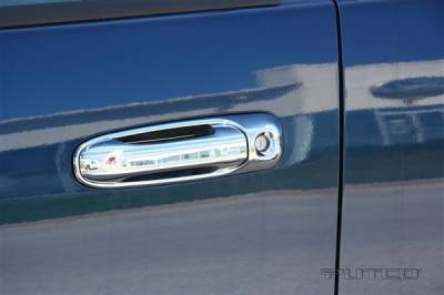 Suv Truck Accessories - Chrome Billet Door Handles - Putco - Mitsubishi Raider Putco Door Handle Covers - 402135