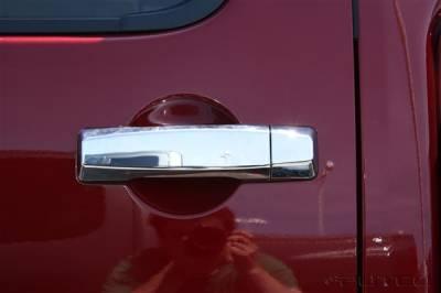 Suv Truck Accessories - Chrome Billet Door Handles - Putco - Nissan Titan Putco Door Handle Covers - 403010
