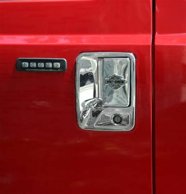 Suv Truck Accessories - Chrome Billet Door Handles - Putco - Ford F250 Superduty Putco Harley-Davidson Door Handles - Bar & Shield - 406007
