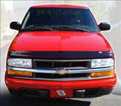 Accessories - Hood Protectors - AVS - Chevrolet S10 AVS Bugflector II Hood Shield - Smoke - 24723