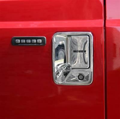 Suv Truck Accessories - Chrome Billet Door Handles - Putco - Ford F350 Superduty Putco Harley-Davidson Door Handles - Lettering - 407016