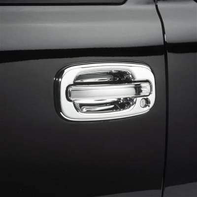 Suv Truck Accessories - Chrome Billet Door Handles - Putco - Chevrolet Silverado Putco Chromed Stainless Steel Door Handle Covers - 500004