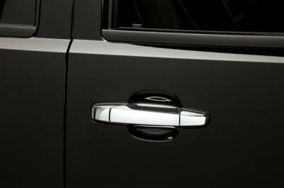 Suv Truck Accessories - Chrome Billet Door Handles - Putco - Chevrolet Avalanche Putco Chromed Stainless Steel Door Handle Covers - 500033