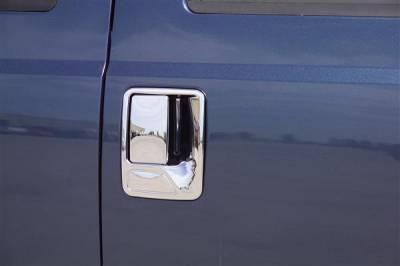 Suv Truck Accessories - Chrome Billet Door Handles - Putco - Ford F350 Superduty Putco Chromed Stainless Steel Door Handle Covers - 501003