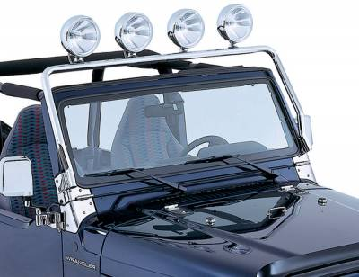Suv Truck Accessories - Light Bars - Omix - Rugged Ridge Full Frame Light Bar - Stainless Steel - 11138-01