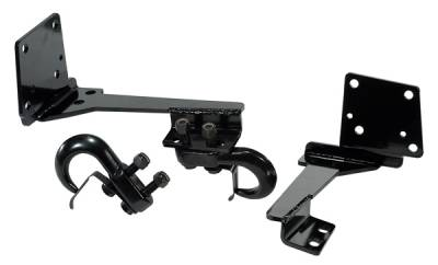 SUV Truck Accessories - Tow Kits - Omix - Rugged Ridge Heavy Duty Tow Hook Kit - Pair - Front - 11236-06