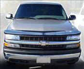 Accessories - Hood Protectors - AVS - Chevrolet Silverado AVS Bugflector II Hood Shield - Smoke - 25902