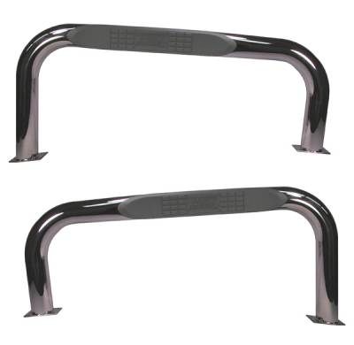 SUV Truck Accessories - Running Boards - Omix - Rugged Ridge Nerf Bar - Stainless - 11522-03