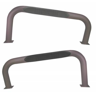 SUV Truck Accessories - Running Boards - Omix - Outland Side Tube Step - Titanium - 11592-02