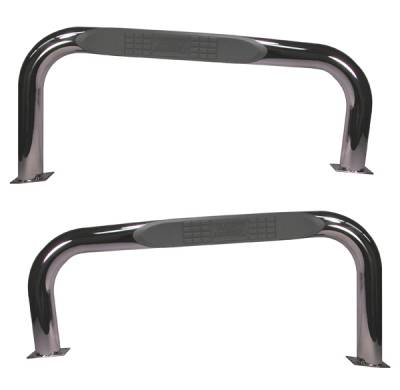 SUV Truck Accessories - Running Boards - Omix - Rugged Ridge Side Tube Step - Stainless - 11593-02