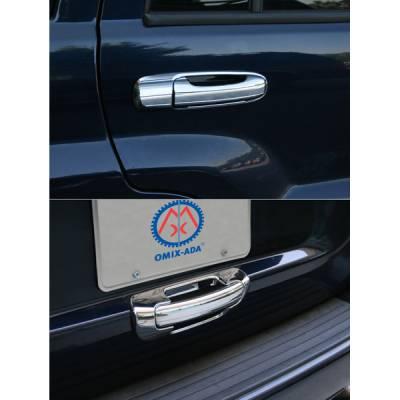 Suv Truck Accessories - Chrome Billet Door Handles - Omix - Omix Door Handle Cover - Chrome - 10 Piece Kit - 13310-13