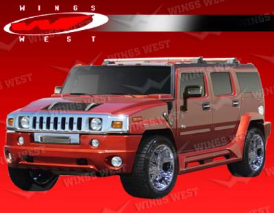 H2 - Body Kits - VIS Racing - Hummer H2 VIS Racing H2 JPC Aero Body Kit - Polyurethane - 10PC - 03HMH24DJPC-099P