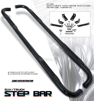 Suv Truck Accessories - Running Boards - OptionRacing - Chevrolet Avalanche Option Racing Side Step Bar - 30-15112