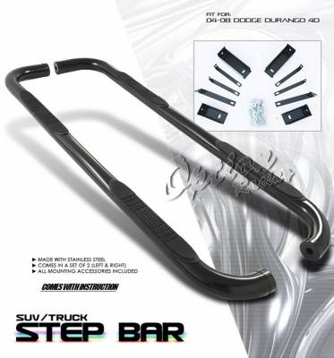 Suv Truck Accessories - Running Boards - OptionRacing - Dodge Durango Option Racing Side Step Bar - Black - 30-17118