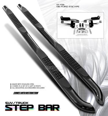 Suv Truck Accessories - Running Boards - OptionRacing - Ford Escape Option Racing Side Step Bar - 30-18127