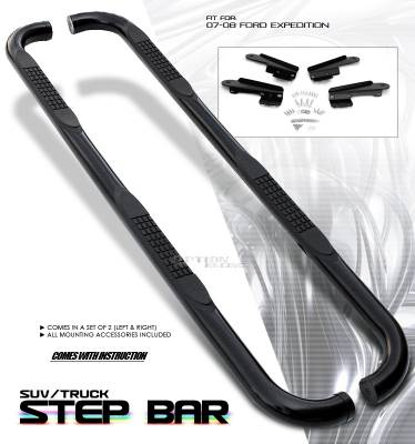 Suv Truck Accessories - Running Boards - OptionRacing - Ford Expedition Option Racing Side Step Bar - 30-18129