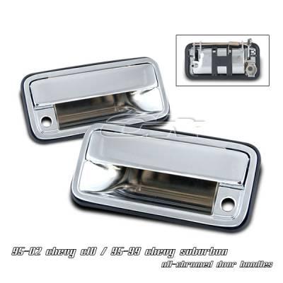 Suv Truck Accessories - Chrome Billet Door Handles - OptionRacing - Chevrolet Suburban Option Racing Door Handles - 31-15101