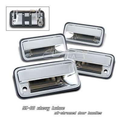 Suv Truck Accessories - Chrome Billet Door Handles - OptionRacing - Chevrolet Tahoe Option Racing Door Handles - 31-15104