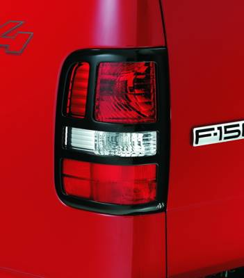 Headlights & Tail Lights - Tail Light Covers - Autovent Shade - Ford F150 Autovent Shade Taillight Slotted Covers - 36225