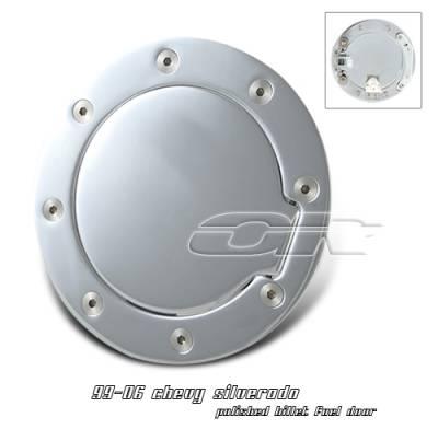 Suv Truck Accessories - Gas Caps - OptionRacing - Chevrolet Silverado Option Racing Fuel Door Cover - 50-15103