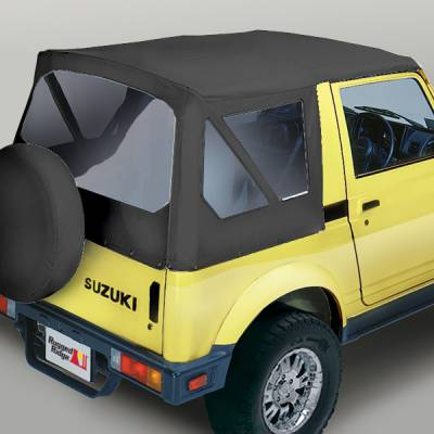 SUV Truck Accessories - Soft Tops - Omix - Outland Fabric Replacement Top - Rear and Side Glass Do Not Zip Out - 53701-15
