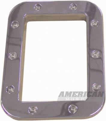 Car Interior - Interior Accessories - AM Custom - Ford Mustang Polished Aluminum Shifter Bezel - 41034