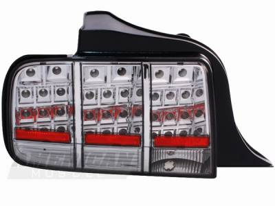 Headlights & Tail Lights - Led Tail Lights - AM Custom - Ford Mustang Smoked LED Taillights - 49030
