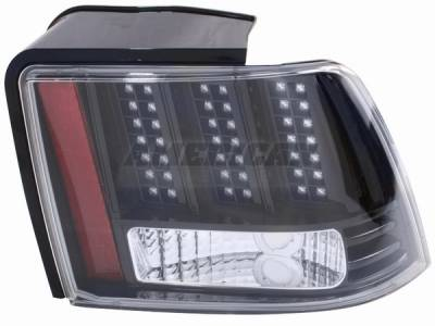 AM Custom - Ford Mustang Black 3-Light LED Taillights - 49045