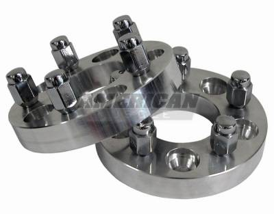 Wheels - Wheel Spacers - AM Custom - Ford Mustang 1 inch Billet Aluminum Wheel Spacers - Pair - 50003