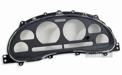 Car Interior - Gauges - AM Custom - Ford Mustang Black Instrument Bezel & Clear Lens - 50016