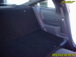Car Interior - Interior Accessories - AM Custom - Ford Mustang Rear Seat Delete Kit - Black - 80304