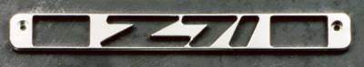 Headlights & Tail Lights - Third Brake Lights - All Sales - All Sales Third Brake Light Cover - Z-71 Design - Brushed - 94008