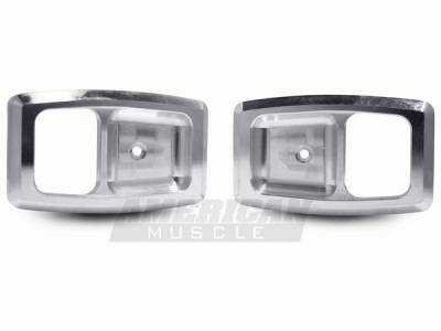 Car Interior - Interior Accessories - AM Custom - Ford Mustang Billet Interior Door Handle Bezels - 94201