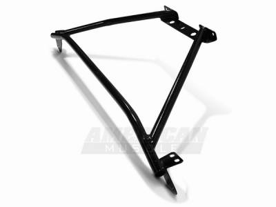 Suspension - Strut Bars - AM Custom - Ford Mustang Black Strut Tower Brace - 94333