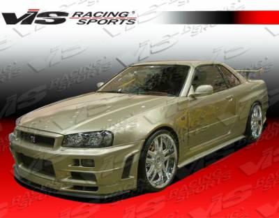 Skyline - Body Kits - VIS Racing - Nissan Skyline VIS Racing R34 Conversion Full Body Kit - 95NSR33GTRR34-098