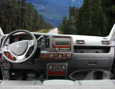 Car Interior - Interior Trim Kits - Sherwood - Honda Ridgeline Sherwood 2D Flat Dash Kit