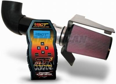 Air Intakes - Oem Air Intakes - AM Custom - Ford Mustang Cold Air Intake & SF3 Custom Tuner Combo - 99112