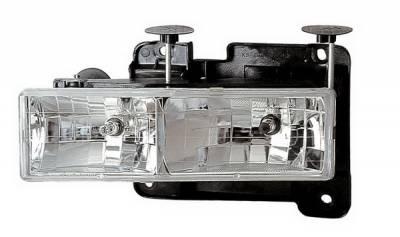 Headlights & Tail Lights - Headlights - Anzo - Chevrolet CK Truck Anzo Headlights - Crystal & Chrome - 111004