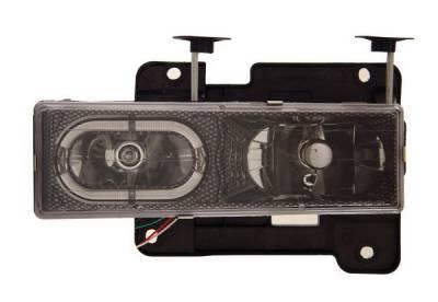 Headlights & Tail Lights - Headlights - Anzo - GMC Yukon Anzo Headlights - Crystal with Halo Carbon Fiber - 111005