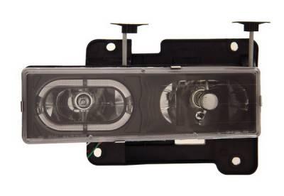 Headlights & Tail Lights - Headlights - Anzo - GMC Yukon Anzo Headlights - Crystal with Halo Black - 111007