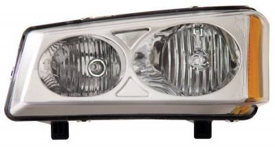 Headlights & Tail Lights - Headlights - Anzo - Chevrolet Avalanche Anzo Headlights - Crystal & Chrome - 111010