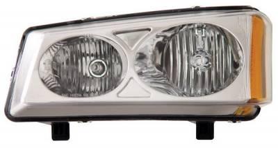 Headlights & Tail Lights - Headlights - Anzo - Chevrolet Silverado Anzo Headlights - Crystal & Chrome - 111010