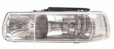 Headlights & Tail Lights - Headlights - Anzo - Chevrolet Suburban Anzo Headlights - Crystal & Chrome - 111011