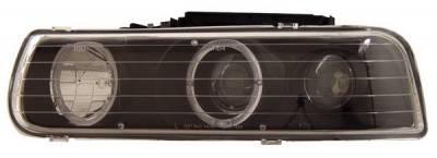 Headlights & Tail Lights - Headlights - Anzo - Chevrolet Silverado Anzo Projector Headlights - with Halo Black - 111012