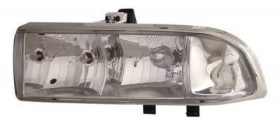 Headlights & Tail Lights - Headlights - Anzo - Chevrolet S10 Anzo Headlights - Crystal & Chrome - 111014