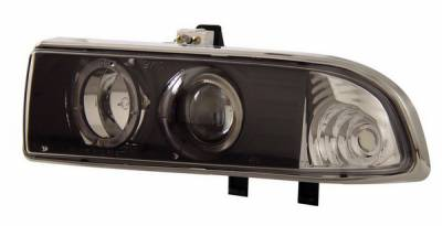 Headlights & Tail Lights - Headlights - Anzo - Chevrolet S10 Anzo Projector Headlights - with Halo Black - 111015