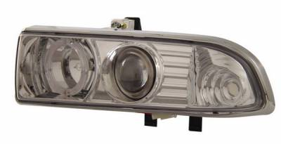 Headlights & Tail Lights - Headlights - Anzo - Chevrolet S10 Anzo Projector Headlights - with Halo Chrome - 111016