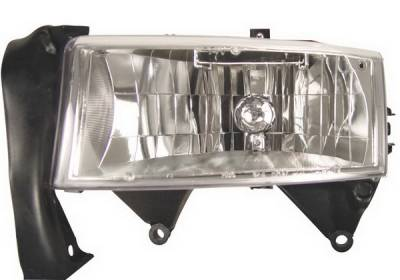 Headlights & Tail Lights - Headlights - Anzo - Dodge Dakota Anzo Headlights - Crystal & Chrome - 111021